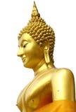 Thais Gouden Boeddhismestandbeeld Stock Afbeelding
