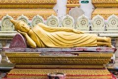 Thais het Doen leunen Boedha Standbeeld Royalty-vrije Stock Afbeeldingen