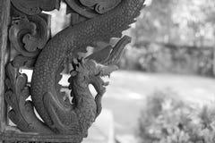 Thais houten art. Royalty-vrije Stock Afbeelding