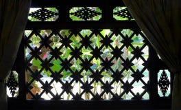 Thais huisvenster, tuinmening Royalty-vrije Stock Fotografie
