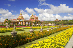 Thais Koninklijk Crematorium in Bangkok, Thailand stock afbeelding