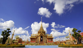 Thais Koninklijk Crematorium in Bangkok, Thailand Stock Foto