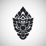 Thais kunsten oud decoratief element, vector Royalty-vrije Stock Fotografie