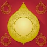 Thais kunstframe royalty-vrije illustratie