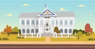Thais Ministerie van het Binnenlandse gebouw Vector illustratie vector illustratie