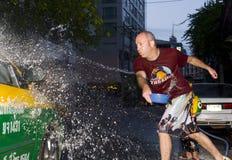 Thais nieuw jaar - waterfestival Stock Foto's