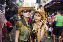 Thais nieuw jaarfestival Stock Foto's