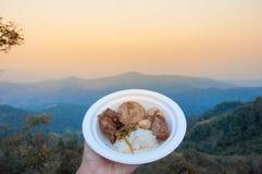 Thais noordelijk voedsel bovenop heuvel Royalty-vrije Stock Fotografie