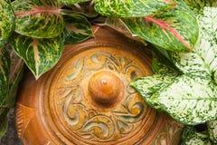 Thais ontwerp Clay Pottery royalty-vrije stock afbeelding