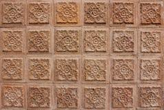 Thais ontwerp van bruine muur Royalty-vrije Stock Fotografie