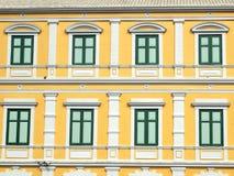 Thais oud stijl klassiek venster Royalty-vrije Stock Foto's