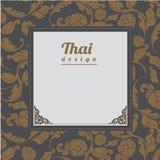 Thais Patroon, Achtergrond Royalty-vrije Stock Fotografie