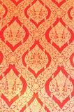 Thais patroon op muur Stock Afbeelding
