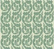 Thais patroon Thaise het patroonillustratie van de kunstmuur Stock Fotografie