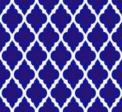 Thais patroonblauw en wit vector illustratie