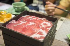 Thais restaurant in warenhuis - rundvlees Stock Afbeeldingen