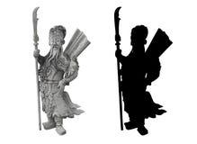 Thais standbeeld van een strijder Royalty-vrije Stock Fotografie