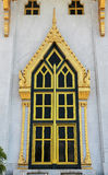 Thais stijl gouden venster Royalty-vrije Stock Fotografie