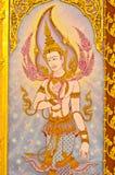 Thais-stijlmuurschilderingen. Royalty-vrije Stock Afbeeldingen