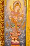 Thais-stijlmuurschilderingen. Royalty-vrije Stock Afbeelding