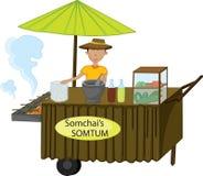 Thais straatvoedsel royalty-vrije illustratie