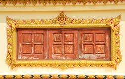 Thais Tempelvenster Stock Afbeelding