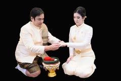 Thais Traditiehuwelijk Stock Afbeeldingen