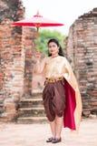 Thais traditiekostuum Stock Foto's