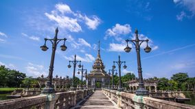 Thais traditiepaviljoen stock video