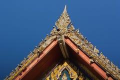 Thais traditioneel decoratiedak van de tempel Royalty-vrije Stock Afbeelding