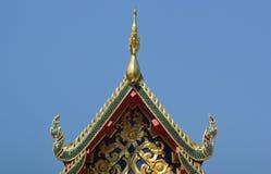 Thais traditioneel decoratiedak van de tempel Royalty-vrije Stock Fotografie