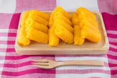 Thais Traditioneel Dessert, (Foi-Leren riem) Royalty-vrije Stock Foto