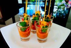 Thais traditioneel menu moo-Sa-Tae stock fotografie