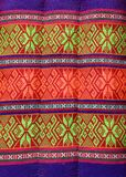 Thais traditioneel patroon in de hoofdkussenambacht stock foto's