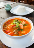 Thais traditioneel voedsel, Tom Yum Goong Stock Afbeelding