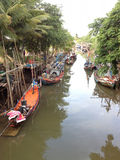 Thais visserijdorp Stock Foto's