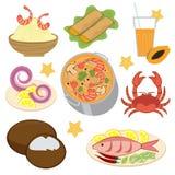 Thais voedsel stock illustratie