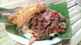 Thais voedsel - beweeg gebraden gerecht #6 Stock Foto's