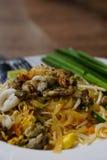 Thais voedsel - beweeg gebraden gerecht #6 Be*wegen-gebraden Thaise noedels Royalty-vrije Stock Afbeeldingen