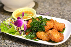Thais Voedsel Fried Fish Cake (Tod Mun Pla) stock afbeelding