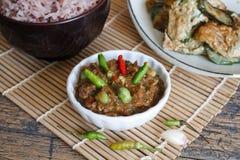 Thais voedsel, Kruidige garnalenpastei Stock Foto's