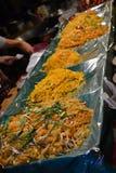 Thais voedsel, noedels, Chiang Dao-markten, Thailand stock afbeeldingen