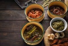 Thais voedsel, Noordelijk Thais voedsel, royalty-vrije stock afbeeldingen