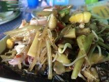 Thais voedsel, papajasalade royalty-vrije stock foto's
