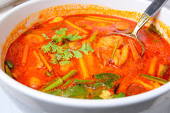 Thais Voedsel Tom Yum Goong Stock Foto's
