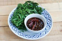 Thais voedsel zoete en zure onderdompeling Stock Foto's