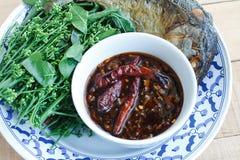 Thais voedsel zoete en zure onderdompeling Royalty-vrije Stock Foto's