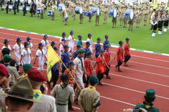 Parade of Scouts National Foundation Day. Stock Photo