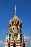 Thaise architectuur op de geveltop van de tempel Stock Foto's