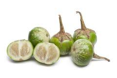 Thaise aubergines Royalty-vrije Stock Afbeeldingen